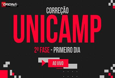 CORREÇÃO UNICAMP AO VIVO - Cursinho Campinas Oficina do Estudante - PRÉ-VESTIBULAR CAMPINAS - O curso que mais aprova nos vestibulares da Unicamp,Fuvest,Unesp,Ufscar,Unifesp.