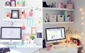 Mesa organizada