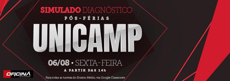 SIMULADO DIAGNÓSTICO PÓS-FÉRIAS UNICAMP OCORRE NESTA SEXTA (06)