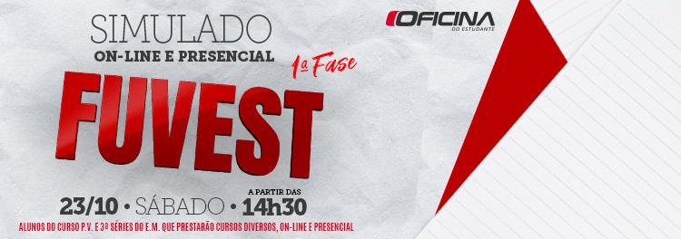 SIMULADO ON-LINE E PRESENCIAL 1ª FASE FUVEST ACONTECE NESTE SÁBADO (23)